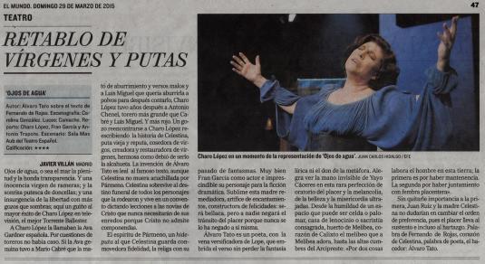 Crítica El Mundo 29-3-2015