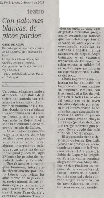 Crítica El País 2 abril 2015
