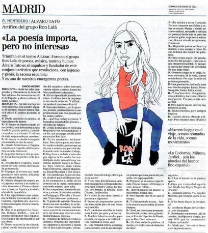 Entrevista Álvaro Tato El Mundo 9 enero 2011