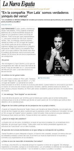 Entrevista La Nueva España 25 junio 2014