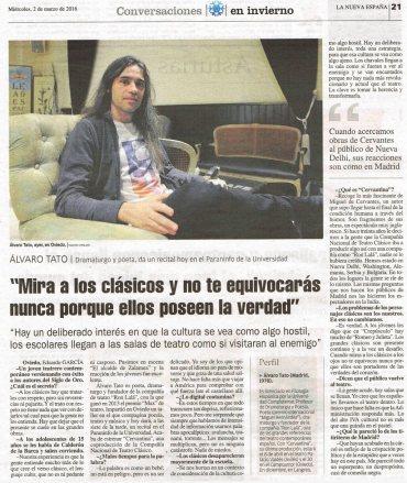 La Nueva España, marzo 2016
